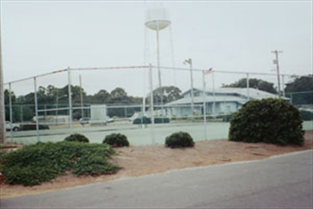 Private lighted tennis courts